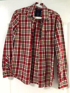 Spring field smart casual Checkered shirt