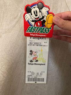 Tokyo Disneyland fastpass 2001(迪士尼樂園快証)