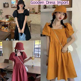 topi gooden dress polos dress import dress kekinian dress katun polos