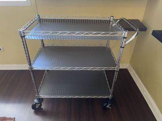 Trolley from S&R, 3 months old, almost new, bought for 4k, selling 3k, very nice and sturdy RFS : Made a built-in shelf already