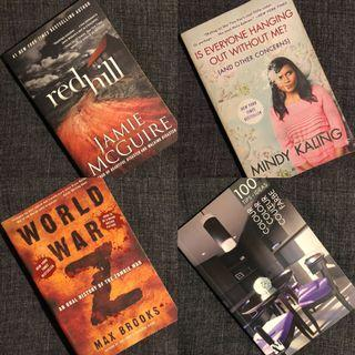 Various Books - 4 books for 500 PHP
