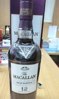 麥卡倫12年紫鑽單一純麥威士忌 Macallan 12 Years Grand Reserva, 700ml, 43%