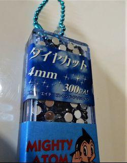 藍色水晶貼片鑽石型亮片4MM(小顆粒)