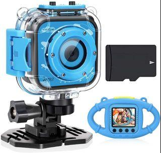 9 Pc Kids Full HD 1080P Sports Action Waterproof Video Bundle