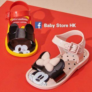 ❤限量優惠❤( 14-19cm) Mini Melissa (Mickey/Minnie 共3款) 出口正品原裝 嬰兒BB 男童女童BB小童鞋 沙灘鞋 涼鞋 全新 賣完冇補貨  (專門店原價$650)