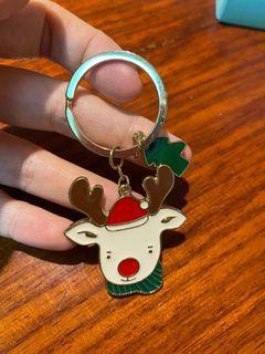 麋鹿聖誕樹吊飾鑰匙圈