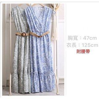 夏日藍洋裝