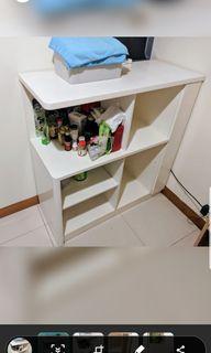 白色實木柜