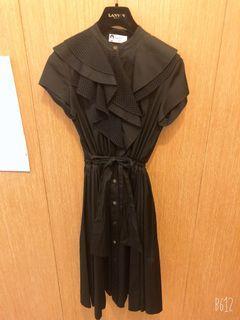 浪凡黑色連身洋裝