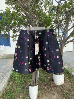 「全新 」義大利品牌可愛熱氣球緞面裙