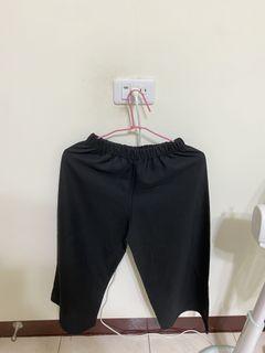 韓製彈性寬褲