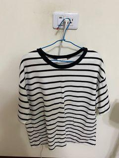 韓版黑白條紋上衣