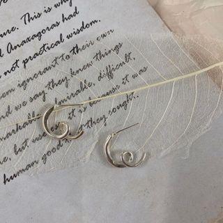 類愛心純銀耳環