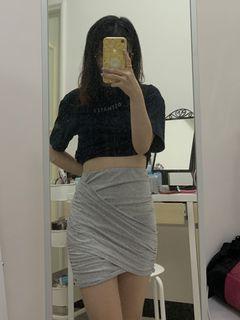 灰色短裙 半身裙