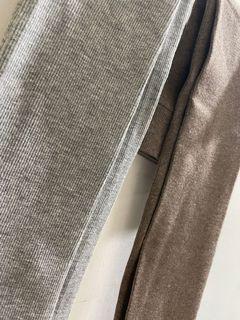 棉質內搭褲 灰/咖啡