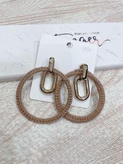 時尚 質感 復古大圈圈耳環(耳針)