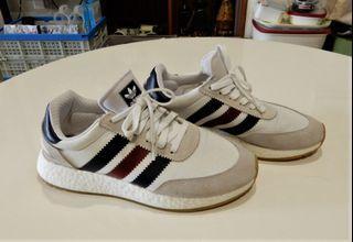 Adidas Art-BD7813 Boost麂皮網布休閒運動慢跑鞋-白=1750