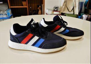 Adidas Art-BD7813 Boost麂皮網布休閒運動慢跑鞋-藍