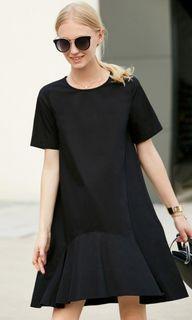 Amii asymmetrical drop shift dress