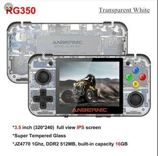 Anbernic RG350 Retrogame Handheld Mini Compact Portable With Double Analog Transparent Limited Edition.