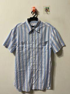 ARMANI collezioni 絲質棉料 反折袖襯衫