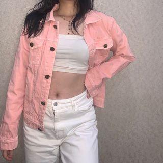 Benefit Pink Denim Jacket