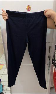 Dark Blue Semi-Jegging Wanita/ Celana Legging Biru Tua [Preloved]