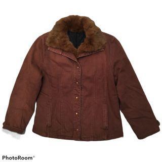 brown vintage jacket