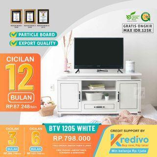 Bufet TV putih | bisa kredit dan dapat subsidi ongkir
