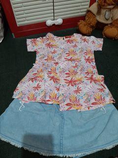 Bundling set baju celana anak perempuan sale 3 hari