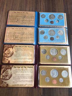 D006 - Singapore 1980 / 1982 Uncirculated Coins Set (4 sets)