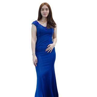 Dress Biru Envy Collection Party DR8050BR
