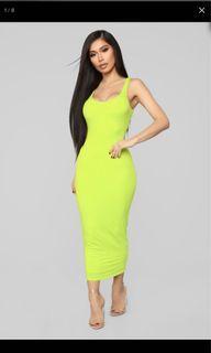 Fashion Nova Your Needs Met Dress - Lime