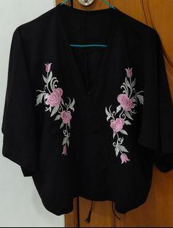 Flower top embroidery