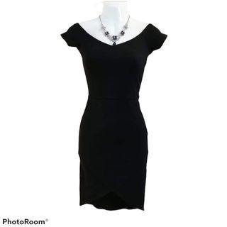 Forever 21 Black Off Shoulder Bodycon Dress
