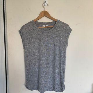 出清特價全新gap超舒服彈性質感簡約雜灰色百搭寬鬆休閒削肩背心上衣T恤