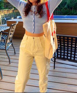High waisted light khaki coloured pants!