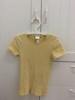 H&M黃色上衣