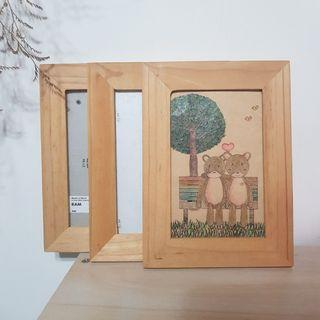 IKEA 原木木質相框
