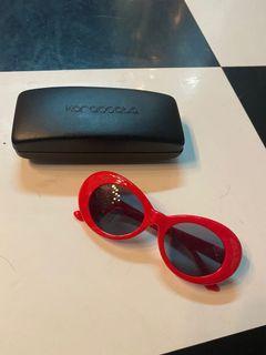 Kacamata red sunglasses retro
