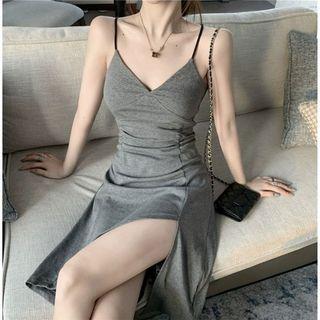 Korean Bodycon Grey Mini Dress