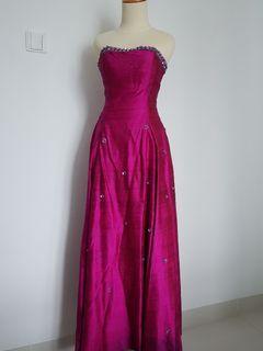 Long Dress Fuchia