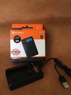 NB13L NB-13L充電器合Canon PowerShot G7 X Mark III,G9 X Mark II,SX740 HS,SX730 HS及多款相機請看內容(一年保用)