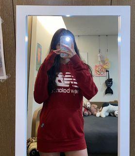 New balance 大logo紅色帽踢