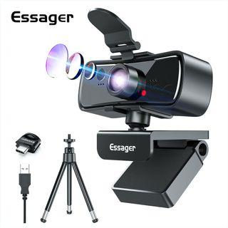 Original High Quality Essager 1080p Full HD Webcam with Tripod Stand