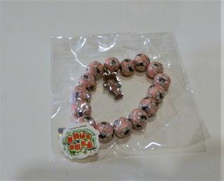 Pinoko吊飾腕鍊粉紅