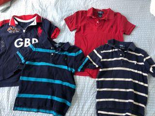 平售全棉Ralph Lauren Polo Boy's shirt tee 3pcs in size 5 1pc in size 4