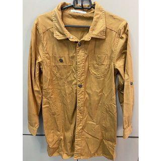 【二手】日牌Rawedge 長袖長版襯衫