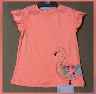 SALE❗️Authentic Mothercare coral flamingo shirt