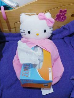 全新Sanrio絕版罕有靚靚超可愛Hello Kitty紙巾盒紙巾套有包裝小禮物